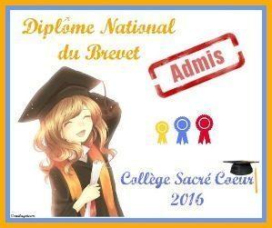 Brevet des Collèges – Résultats de la promotion 2016